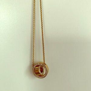 Swarovski golden necklace